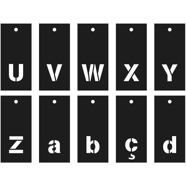 Pochoirs Multi-usage - Alphabet, Chiffres et symboles - 70 pcs - Photo n°6