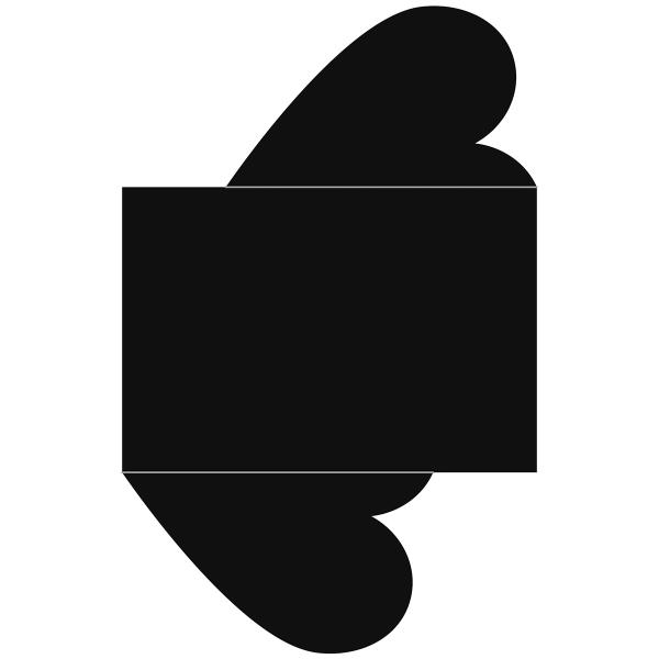 Matrice de coupe Artemio - Carte Coeur - 25 x 16 cm - 1 pce - Photo n°2