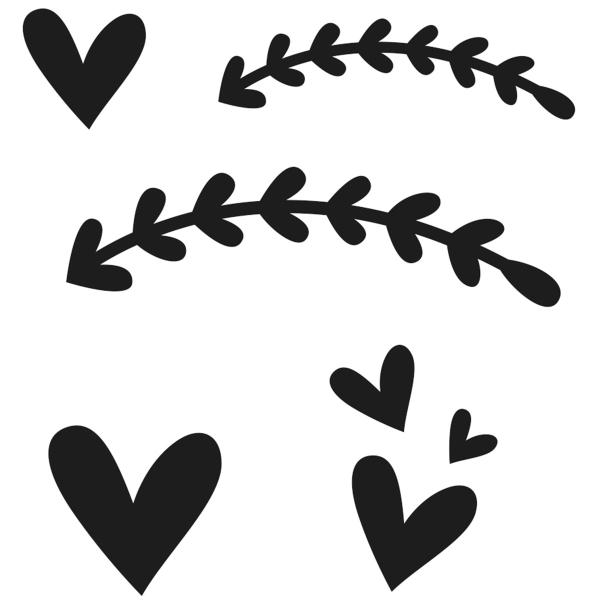 Matrice de coupe Artemio - Coeur et frise - de 2,5 à 6,5 cm - 5 pcs - Photo n°2