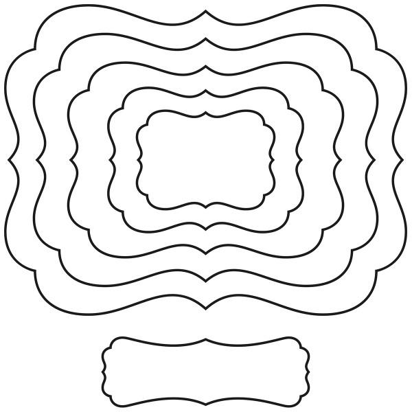 Matrice de coupe Artemio - Cadres - de 6 à 17 cm - 6 pcs - Photo n°2