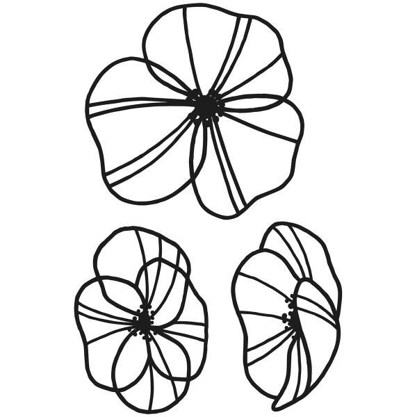 Matrice de coupe Artemio - Slow Life Fleurs - de 7 à 8,5 cm - 3 pcs - Photo n°2