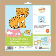 Kit créatif enfant - Jeu Mémo à décorer - 40 cartes