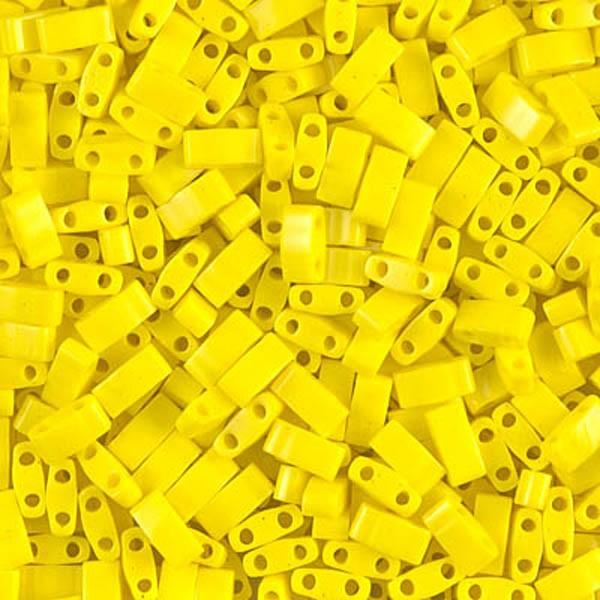 5g Miyuki Half Tila opaque yellow HTL-404 - Photo n°1
