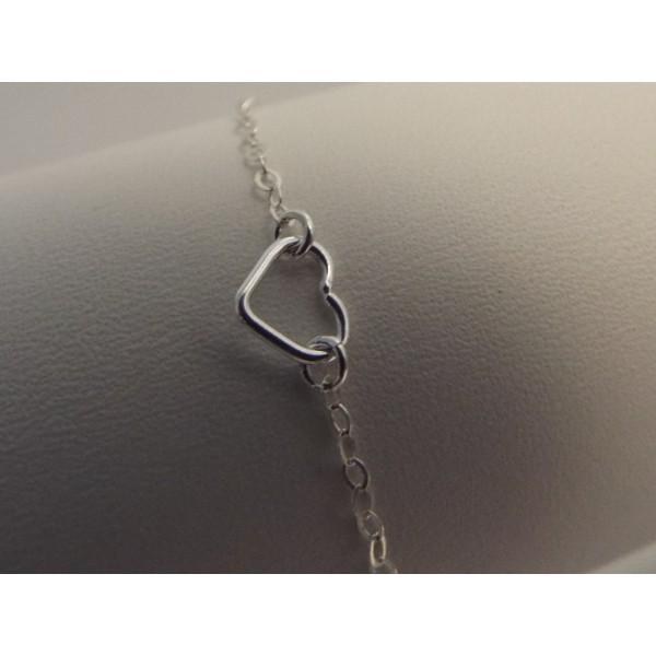 Argent 925 Plaquage Or Rose -1 Bracelet 15 cm avec anneaux pour Breloques Intercalaires, connecteurs - Photo n°2