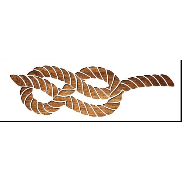 Pochoir 30  x 10 cm en plastique Mylar Noeud marin en huit - Photo n°1