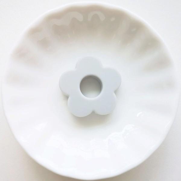 Perle Silicone Fleur Gris Clair 27mm, Creation bijoux - Photo n°1