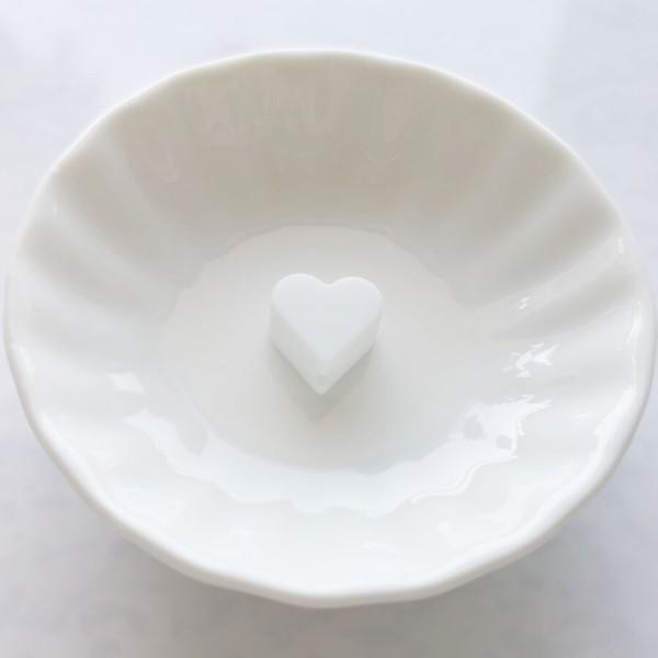 Perle Silicone Petit Coeur Blanc 14mm x 13mm Creation bijoux - Photo n°1