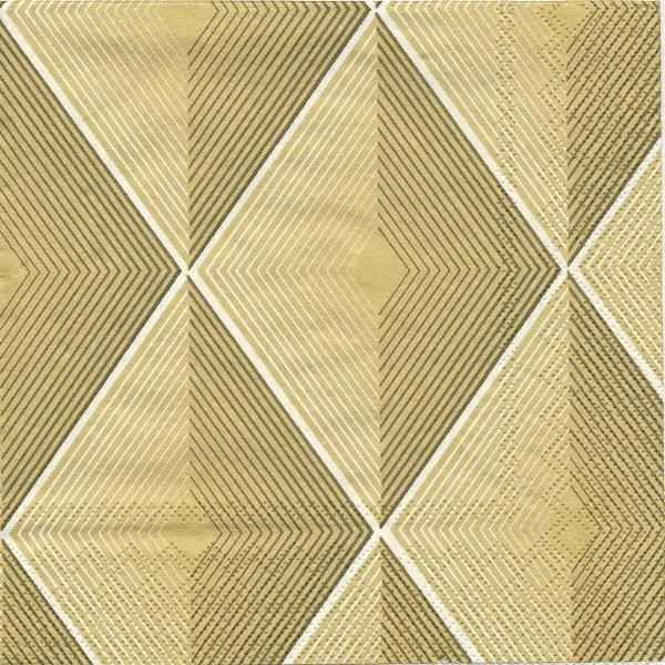 4 Serviettes en papier Décor Losanges Format Lunch Decoupage Decopatch L-545809 IHR - Photo n°1