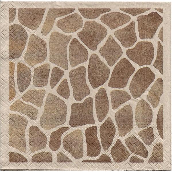 4 Serviettes en papier Girafe Nature Format Lunch Decoupage Decopatch SDLE-030400 Paw - Photo n°2