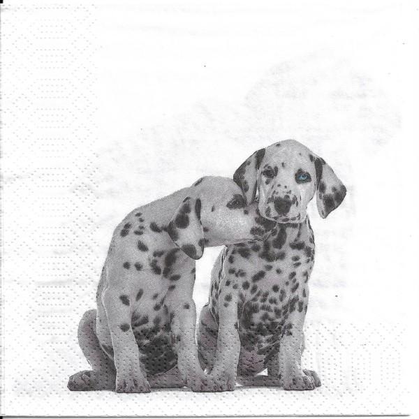 4 Serviettes en papier Bio Chiens Dalmatiens Format Lunch Decoupage Decopatch 191970 Paper+Design - Photo n°2
