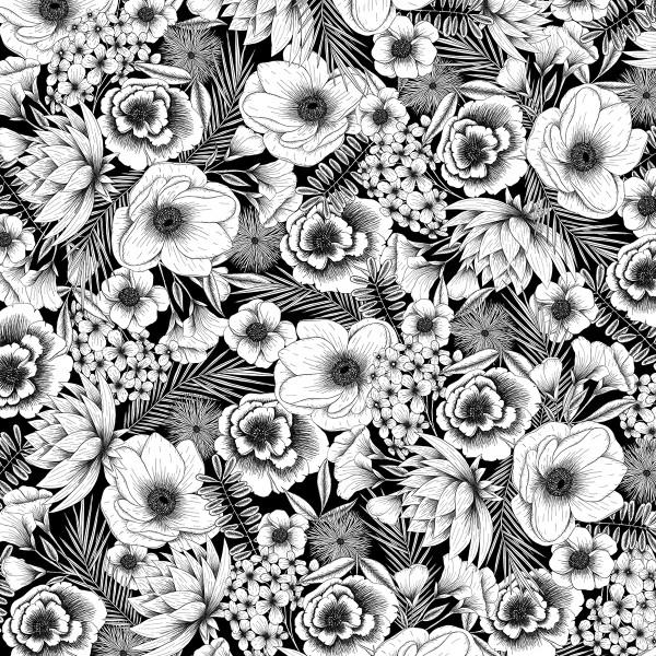 Infusible Ink à motifs Cricut Maker - Black Botanicals - 30,5 x 30,5 cm - 2 feuilles - Photo n°2