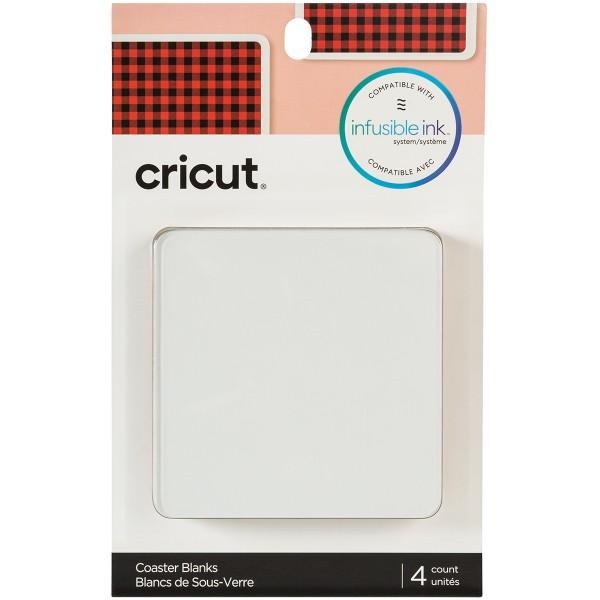 Dessous de verre à personnaliser Infusible Ink Cricut - 9,5 x 9,5 cm - 4 pcs - Photo n°1
