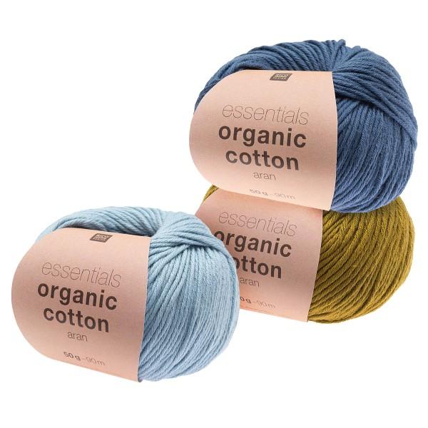 Laine Bio Rico Design - Essentials Organic Cotton Aran - 90 m - Plusieurs coloris disponibles - Photo n°1