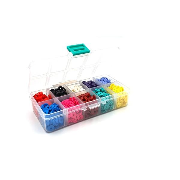 Boîte De 1500 Perles Heishi 8mm 10 Couleurs - Photo n°1