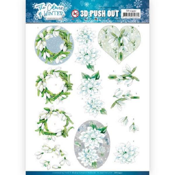 Images 3D prédéc. Jeanine's Art The Colours of Winter - White winter flowers - Photo n°1