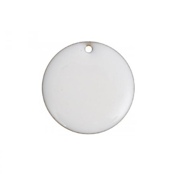 Sequins Rondes Blanc 20 mm 2 Breloques - Photo n°1