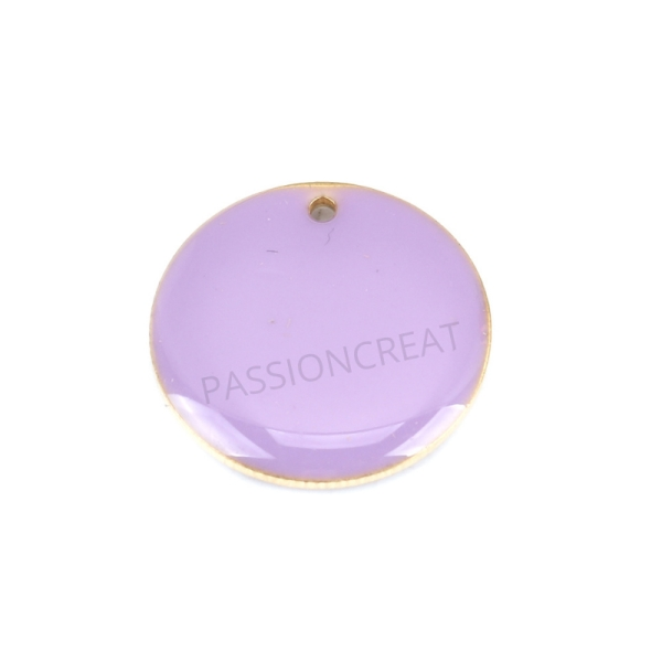 Sequins Rondes Violet 20 mm 2 Breloques - Photo n°1
