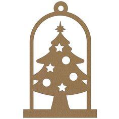 Cloche en bois à suspendre - Sapin de Noël - 12 cm