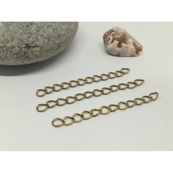 Chaînettes d'extension 5 cm bronze x 25 - Photo n°1