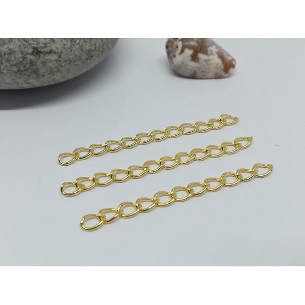 Chaînettes d'extension 5 mc dorée x 25 - Photo n°1