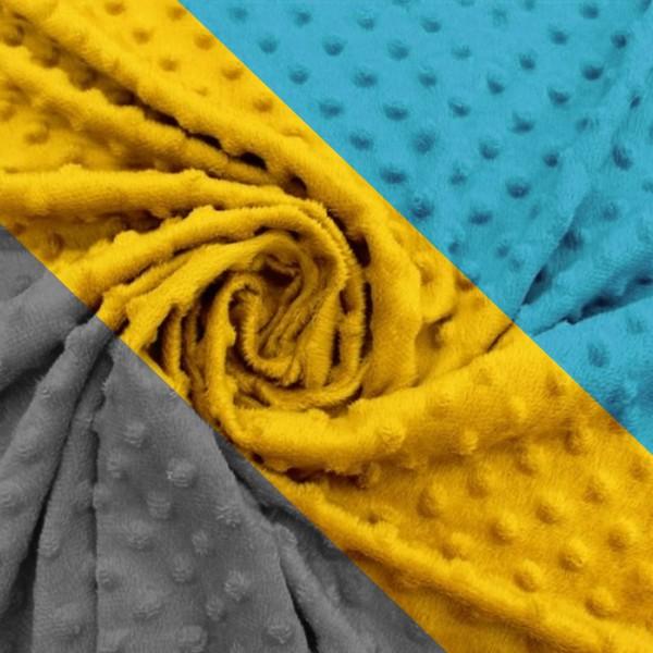 Tissu polaire Minky à pois en relief - Vendu par 10 cm - Photo n°1
