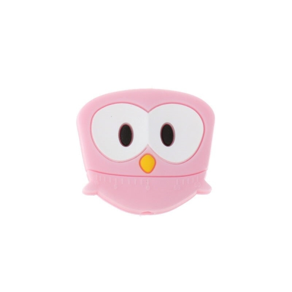 Perle Silicone Hibou Rose 28mm x 25mm Creation bijoux - Photo n°1