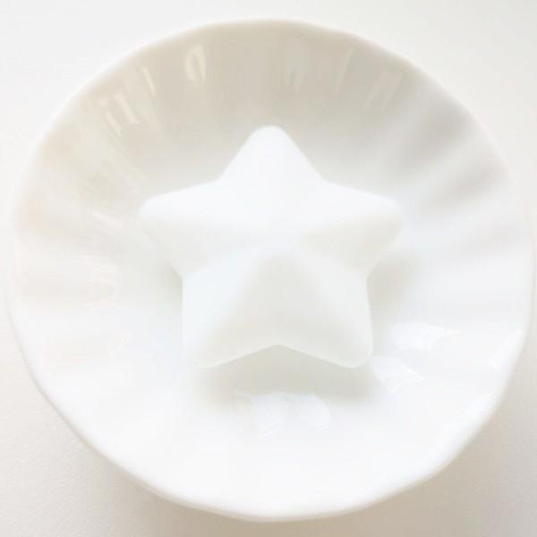 Perle Silicone Etoile Blanc 38mm Creation bijoux - Photo n°1