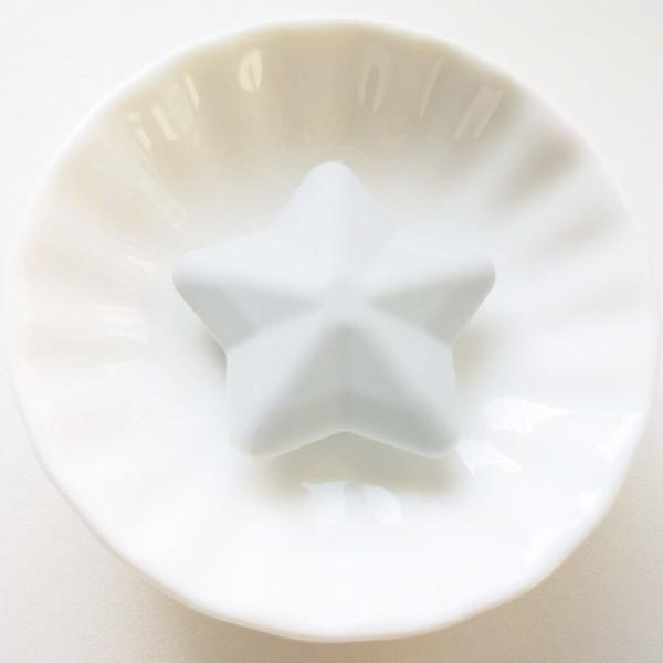 Perle Silicone Etoile Gris Clair 38mm Creation bijoux - Photo n°1