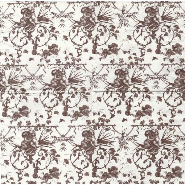 4 Serviettes en papier Ange Baroque Format Lunch Decoupage Decopatch 210761 Home Fashion - Photo n°1