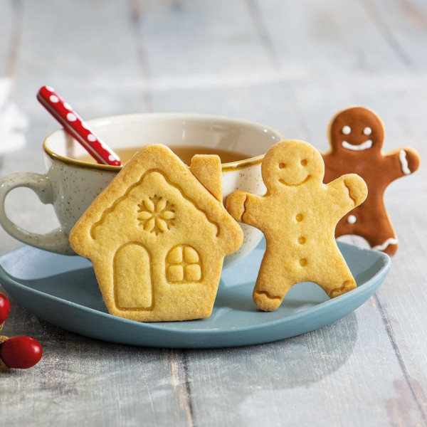 Emporte pièce Mr Biscuit et Maison pain d'épices - Photo n°2
