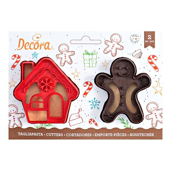 Emporte pièce Mr Biscuit et Maison pain d'épices - Photo n°1