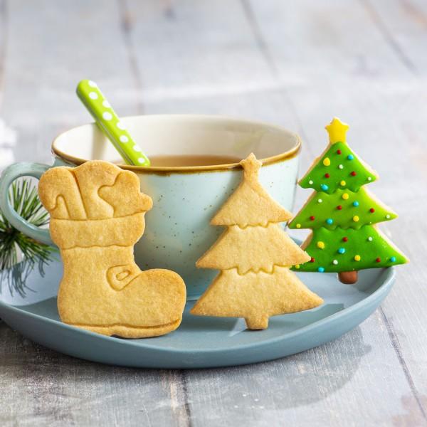 Emporte pièce botte et sapin de Noël - Photo n°2