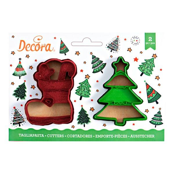 Emporte pièce botte et sapin de Noël - Photo n°1