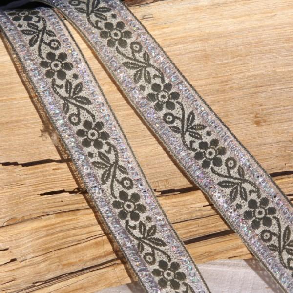 Ruban doré à paillettes ( 25 mm ) - Photo n°1