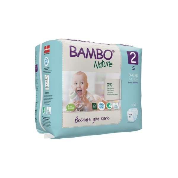 Couches Bambo Nature Mini T2 - 3/6 kg - 1 paquet - Photo n°1