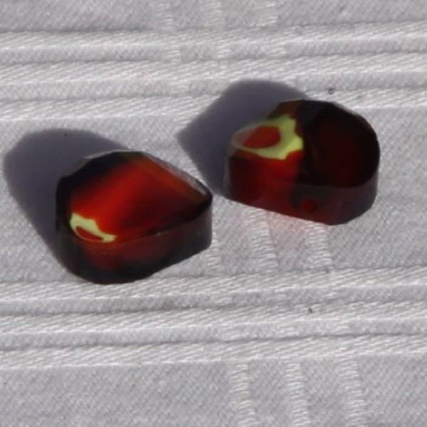 Lot de 2 perles en verre cuivré, 12 mm - Photo n°2