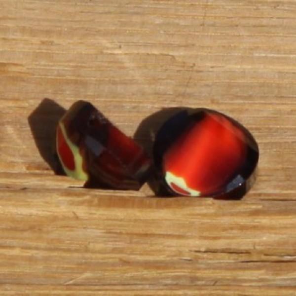 Lot de 2 perles en verre cuivré, 12 mm - Photo n°1