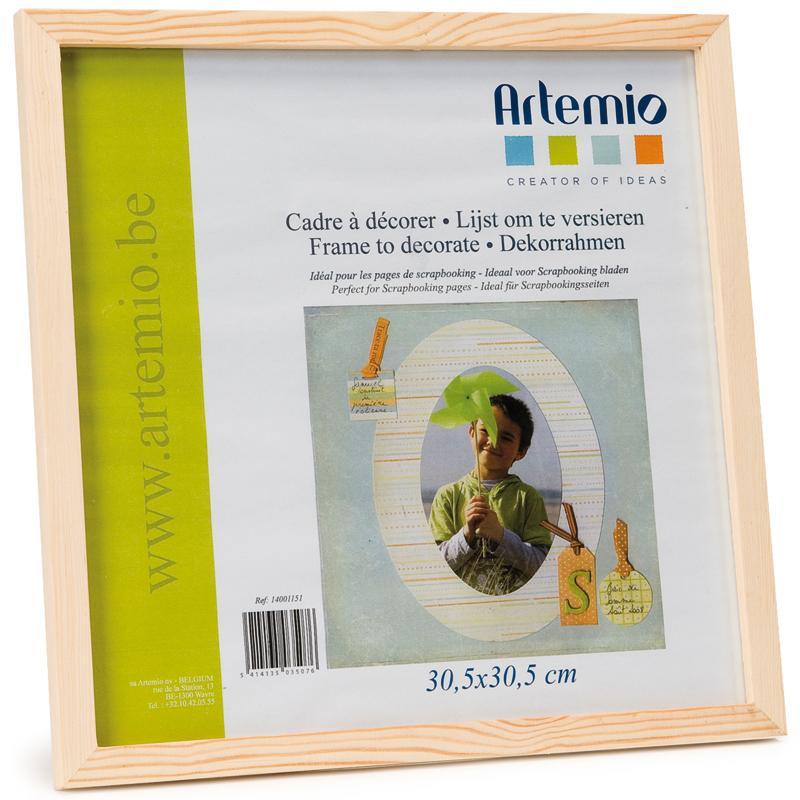 Cadre photo en bois - format photo et scrapbooking 30 x 30 cm - Photo n°1