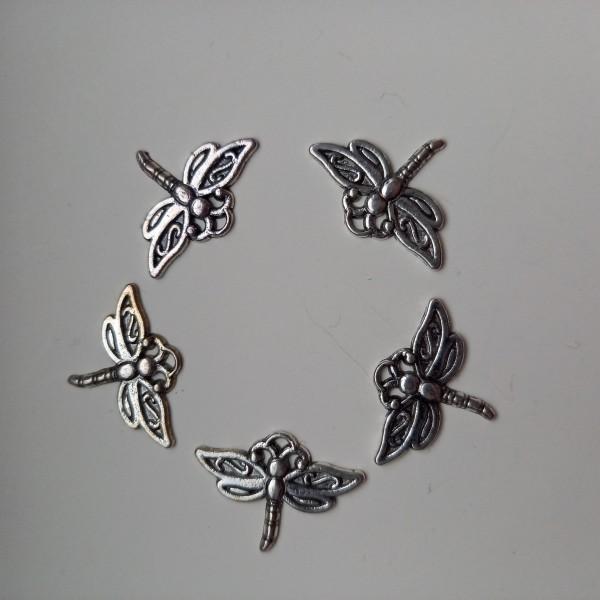 Breloque, 5 petites libellules - Photo n°1