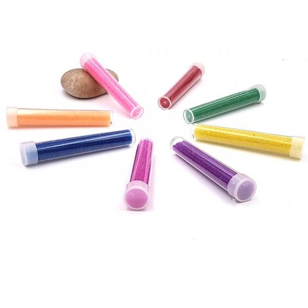 8 Tubes De Microbilles Faux Sucre Multicolores Lot 4 - Photo n°1