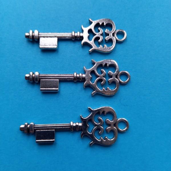 Prenez les 3 clés des champs , breloque ou pendentif - Photo n°1