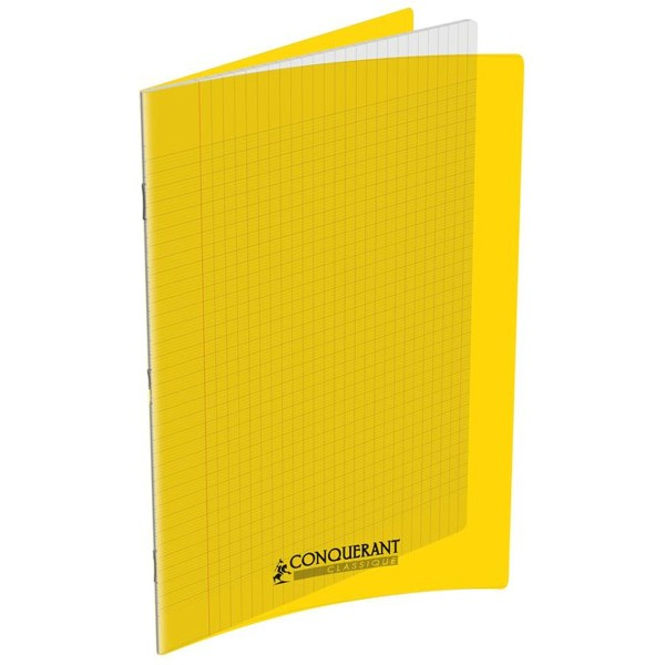 Cahier 24x32 - 96 pages - Séyès - Polypro jaune - Photo n°1