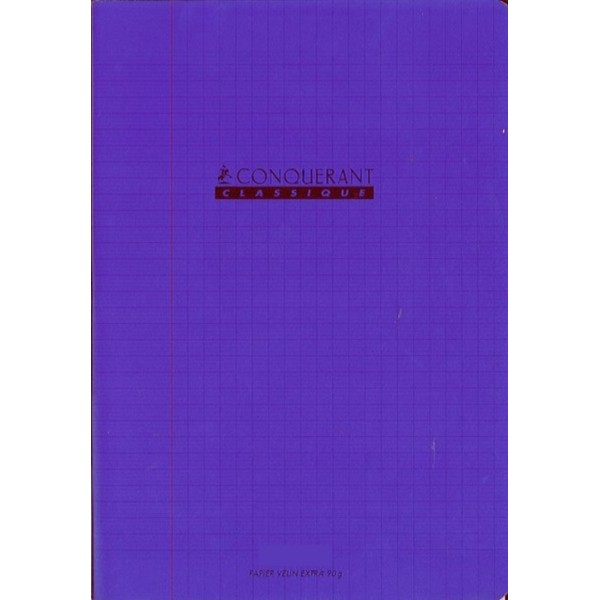 Cahier 24x32 - 96 pages - Séyès - Polypro violet - Photo n°1