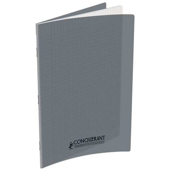 Cahier 21x29.7 - 96 pages - Séyès - Polypro gris - Photo n°1