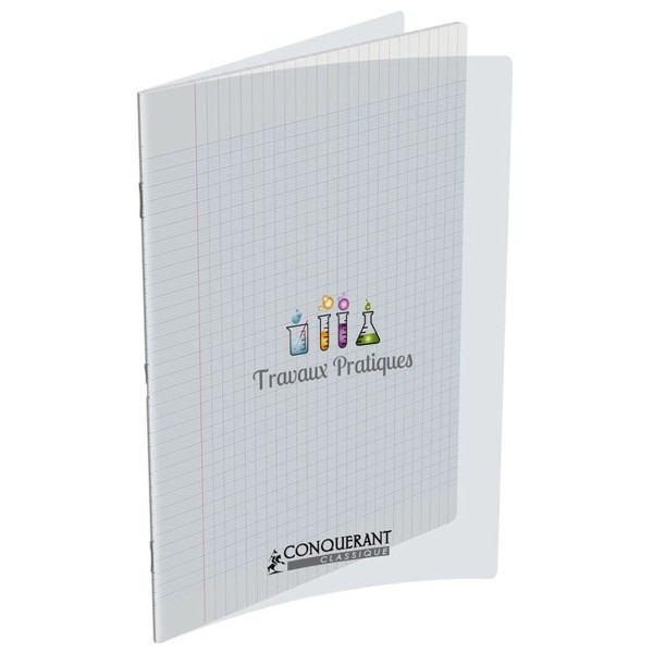 Cahier 21x29.7 - 96 pages - Travaux pratiques - Polypro incolore - Photo n°1