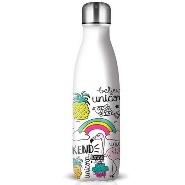 I-Drink - ID0009 - Bouteille Thermique décorée - 500 ML Licorne - Photo n°2