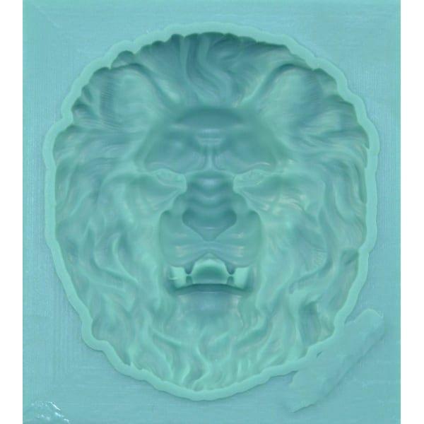 1pc Baroque Lion Head 3D Silicone UV Résine Epoxy Moule Scrapbooking Scrapbooking Moule Bijoux Cire - Photo n°1