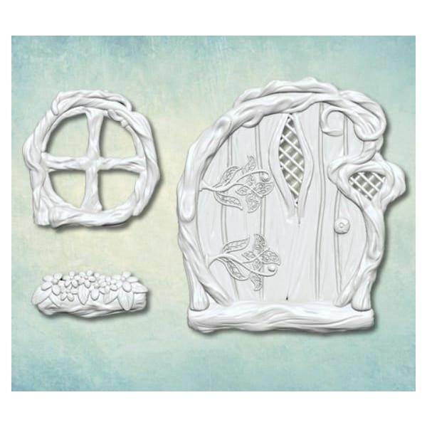 1 pc Porte Fenêtre Fée Maison Jardin 3D Silicone Uv résine époxy moule argile Scrapbooking moule bij - Photo n°2