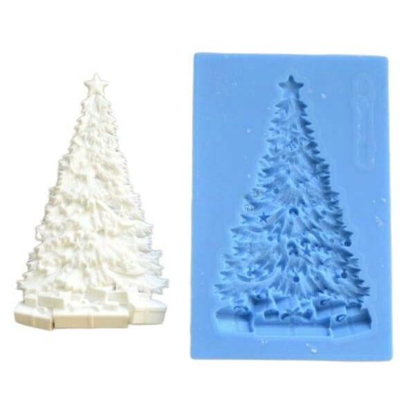1pc avec cadeaux Arbre de Noël 3D Silicone UV Résine Epoxy Epoxy Moule Clay Scrapbooking Moule Bijou - Photo n°1