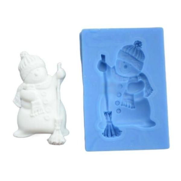 1pc Noël Snowman 3D Silicone UV Résine Époxy Moule Argile Scrapbooking Moule Bijoux Cire Gypse Cooki - Photo n°1
